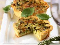 Zucchini-Oliven-Quiche Rezept