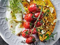 Zucchini-Omelett mit Kräutern Rezept