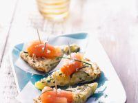 Zucchini-Tortilla mit Räucherlachs und Meerrettich Rezept