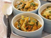 Zucchini-Wachsbohnen-Curry mit Koriander Rezept