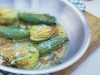 Zucchiniblüten gefüllt mit Lachs und Ricotta Rezept