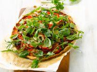 Zucchinipizza mit Kräutern Rezept
