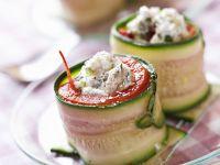 Zucchiniröllchen Rezept