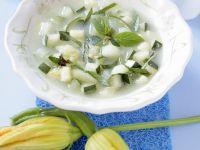 Zucchinisuppe mit Knoblauch Rezept