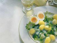 Zuckerschoten mit Kartoffeln und cremiger Sauce Rezept