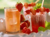 Zwei Frucht-Drinks Rezept