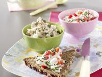 Zweierlei Brotaufstriche: Paprikaquark / Tunfischcreme Rezept