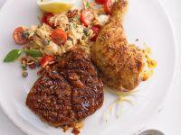Zweierlei Fleisch mit Risoni Rezept