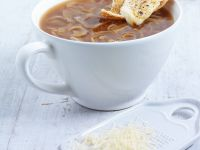 Zwiebelsuppe wie in Frankreich Rezept