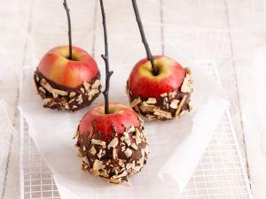 Äpfel mit Schokoladenglasur Rezept