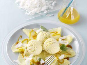 Ananas-Carpaccio mit Sanddornsauce Rezept