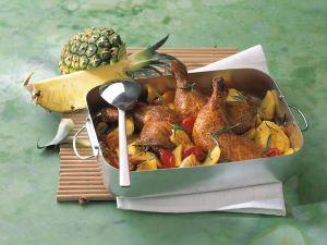 Ananas-Hähnchen Rezept