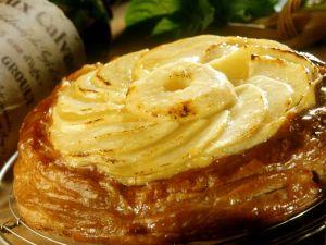 Apfel-Calvados-Kuchen Rezept