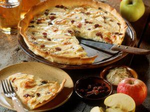 Apfel-Rosinen-Tarte Rezept