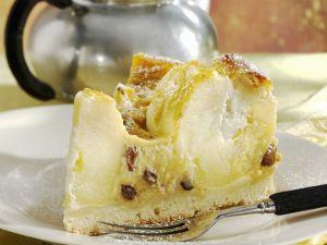 Apfel-Rosinen-Torte mit Vanillecreme Rezept