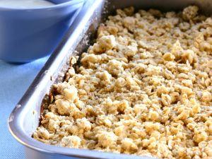 Apfelauflauf mit Streuseln (Crumble) Rezept
