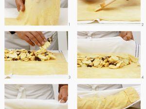 Apfelstrudel mit Puderzucker zubereiten Rezept