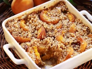 Aprikosen-Crumble Rezept