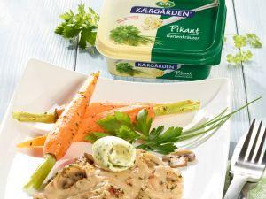 Arla Kærgården Gartenkräuter-Geschnetzeltes Rezept