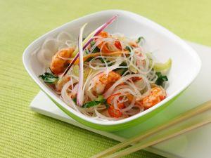 Asia-Nudeln mit Shrimps Rezept