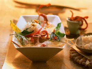 Asiatische Entensuppe mit Duftreis Rezept
