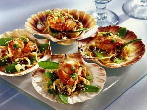 Asiatische Nudeln mit Muscheln Rezept