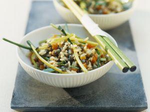 Asiatische Reispfanne mit Gemüse Rezept