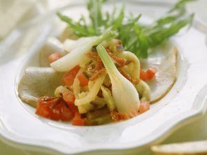 Auberginen-Kalbs-Salat mit getrockneten Tomaten Rezept