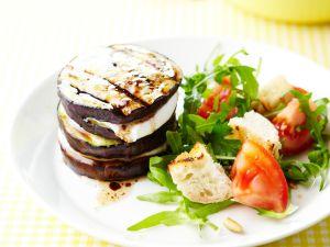 Auberginen-Mille-Feuille mit Ziegenkäse Rezept