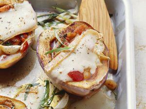Auberginen mit Tomatenfüllung Rezept