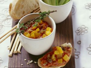 Auberginen-Paprika-Dip Rezept