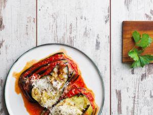 Auberginen-Paprika-Lasagne Rezept