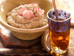 Auberginenpüree mit Sesampaste Rezept