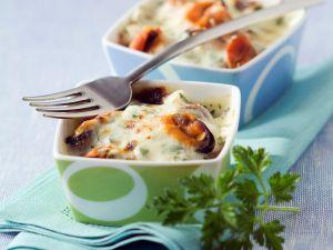 Auflauf mit Meeresfrüchten und Gorgonzola Rezept