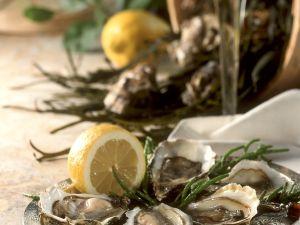 Austern mit Zitrone Rezept