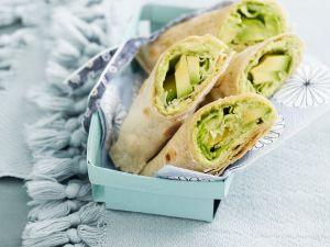 Avocado-Bohnen-Wraps Rezept