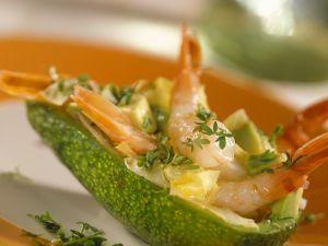 Avocado-Garnelensalat Rezept