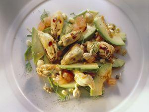 Avocado-Muschelsalat Rezept