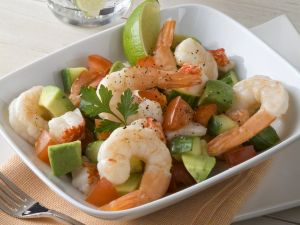 Avocado-Shrimps-Salat mit Paprika Rezept