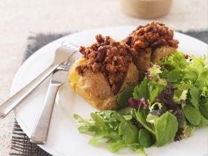 Backkartoffel mit Hackfüllung Rezept