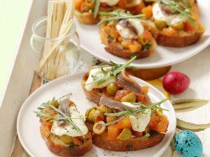 Baguette mit Tomate und Mozzarella Rezept