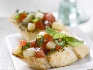 Baguette mit Tomaten und Scamorza Rezept