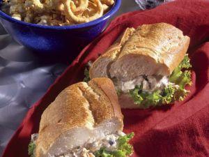 Baguette-Sandwich mit Thunfischcreme Rezept