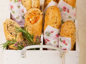 Baguettes gefüllt für Unterwegs Rezept