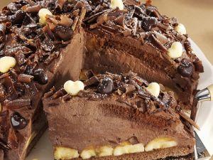 Bananen-Schokoladen-Torte in Kuppelform Rezept
