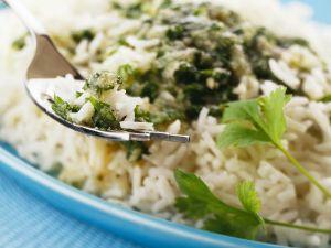 Basmatireis mit Gartenkräutersauce Rezept