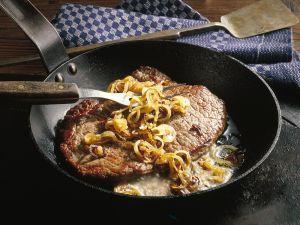 Beefsteak Hamburger Art Rezept