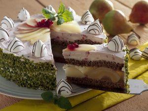 Birnen-Baiser-Torte Rezept