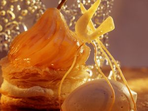 Birnen-Mille-feuilles mit Eis Rezept