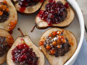 Birnen mit Cranberry-Füllung Rezept